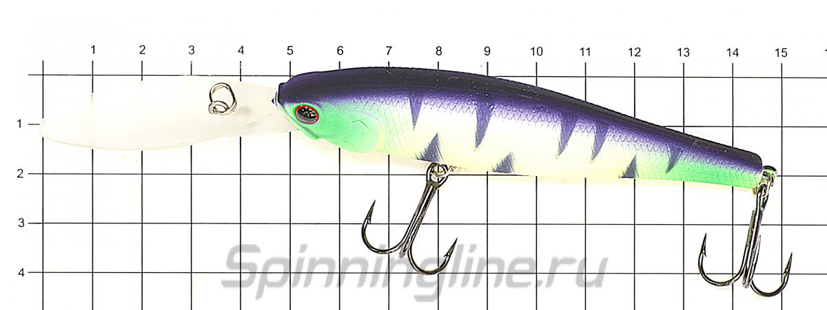 Воблер Lucky Craft Pointer 100XD Misty Shad 284 - фото на размерной линейке (цвет может отличаться) 1