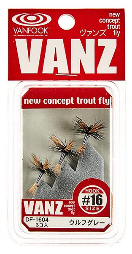 Набор мушек Vanfook Dry Fly 1604 wolf grey