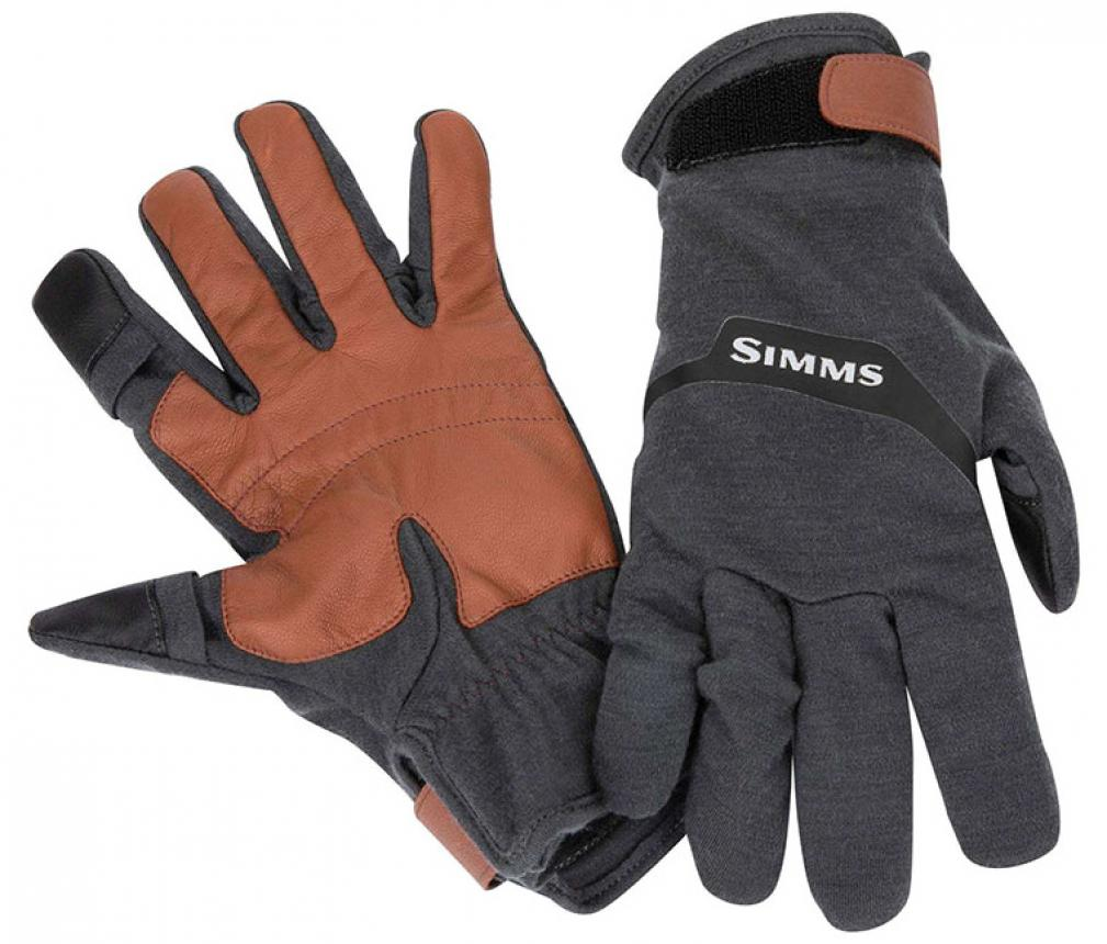 Перчатки Simms Lightweight Wool Tech Glove L Carbon