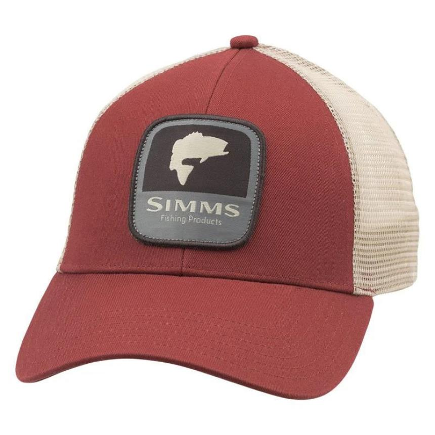 Кепка Simms Bass Patch Trucker Rusty Red